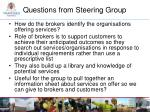 questions from steering group2