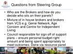 questions from steering group3