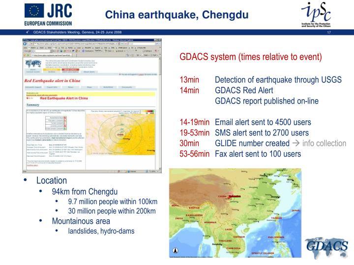 China earthquake, Chengdu