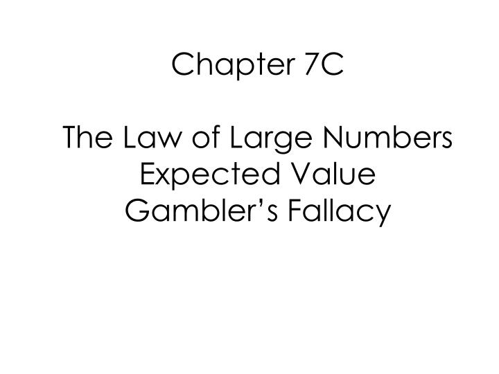 Chapter 7C