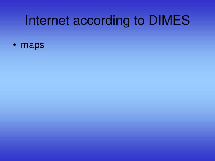 Internet according to DIMES