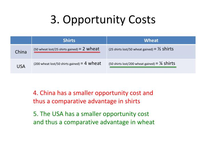 3. Opportunity Costs