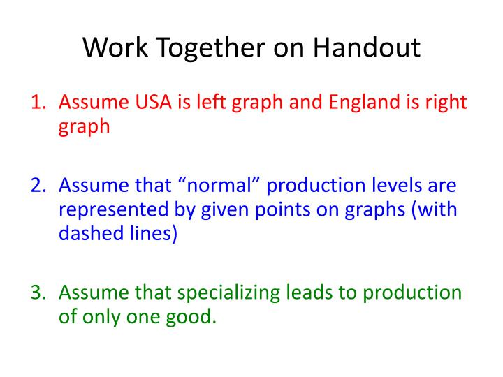 Work Together on Handout