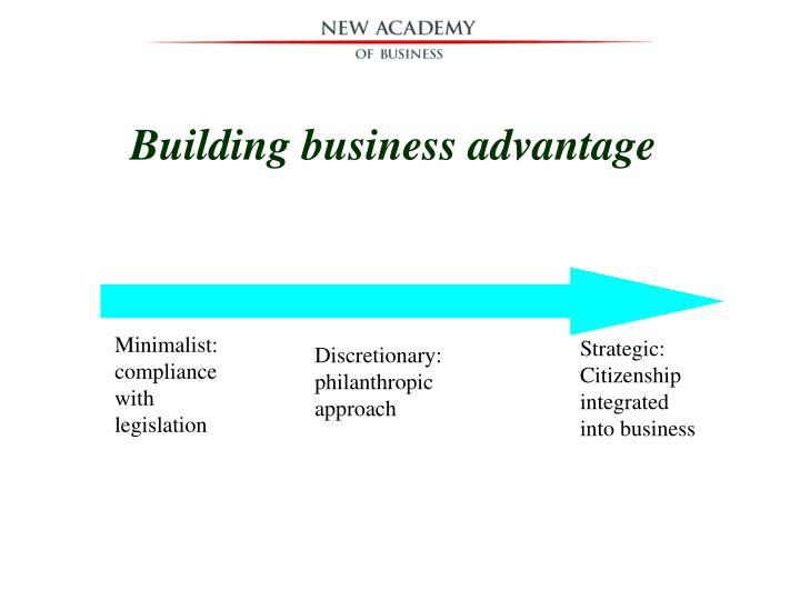 Building business advantage