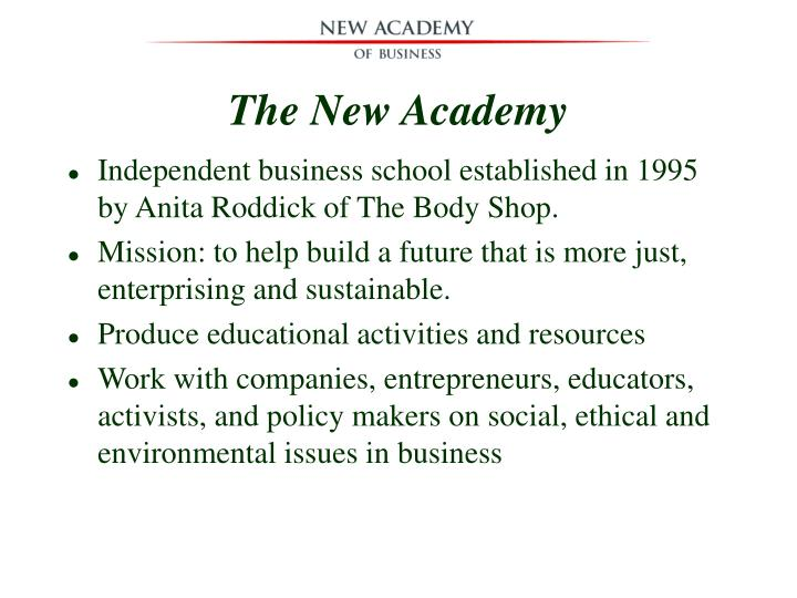 The New Academy