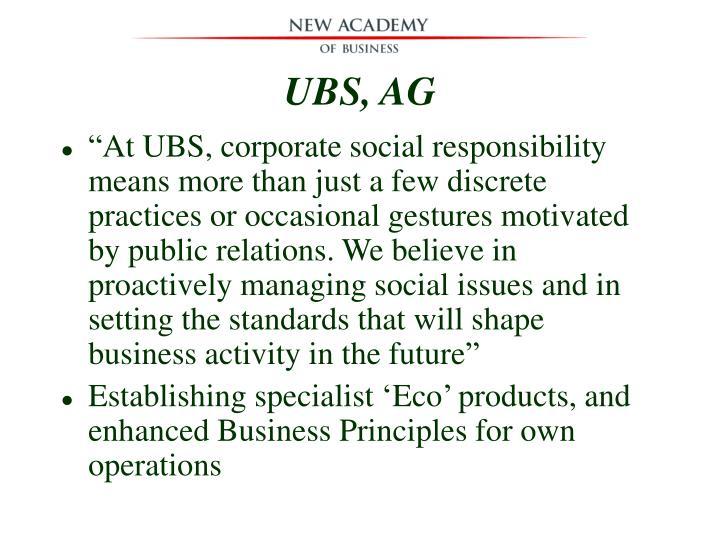 UBS, AG