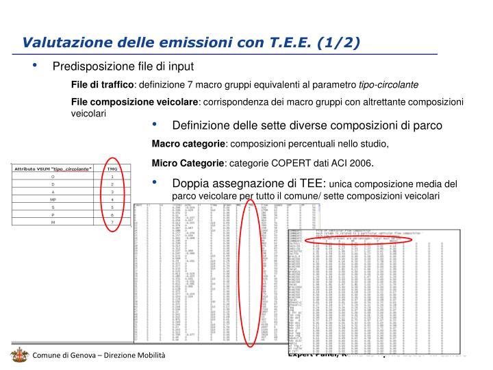 Valutazione delle emissioni con T.E.E. (1/2)