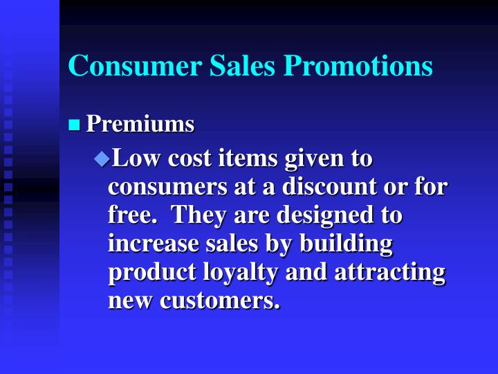Consumer Sales Promotions