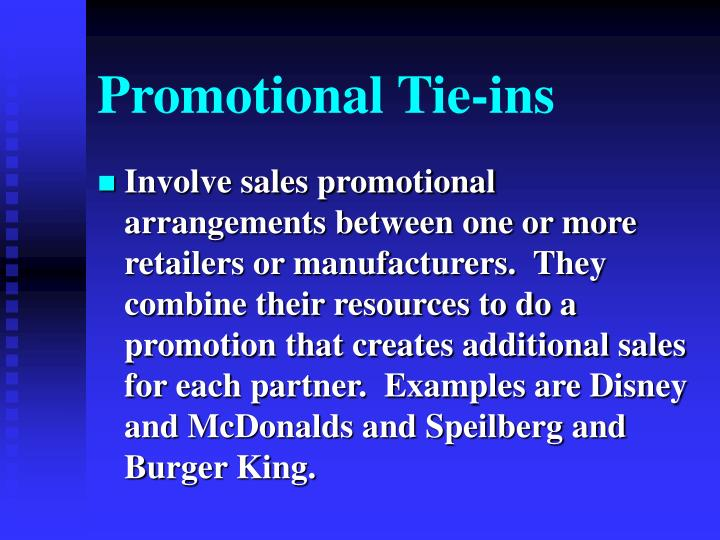 Promotional Tie-ins