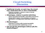 circuit switching discussion