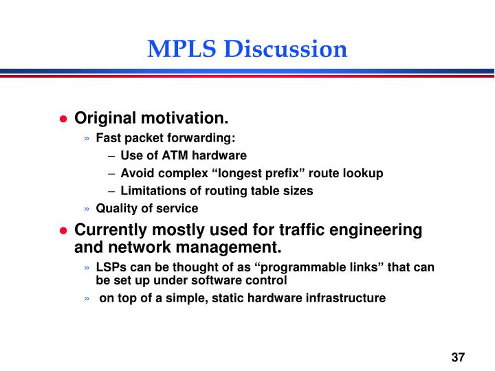 MPLS Discussion