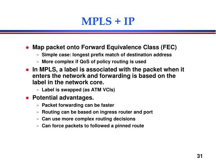MPLS + IP