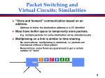 packet switching and virtual circuits similarities