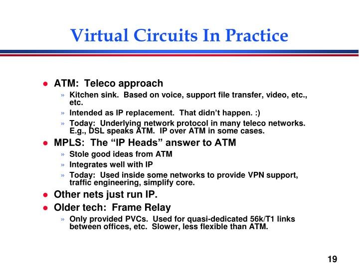 Virtual Circuits In Practice