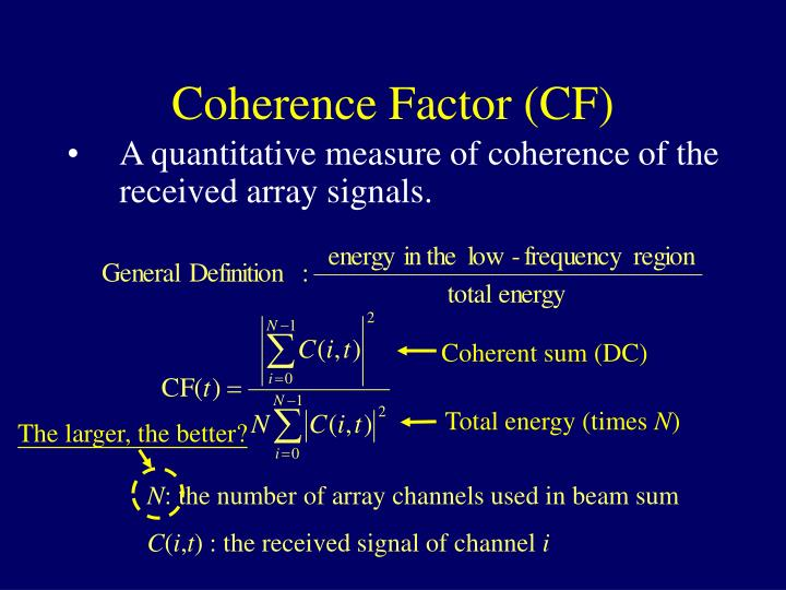 Coherent sum (DC)