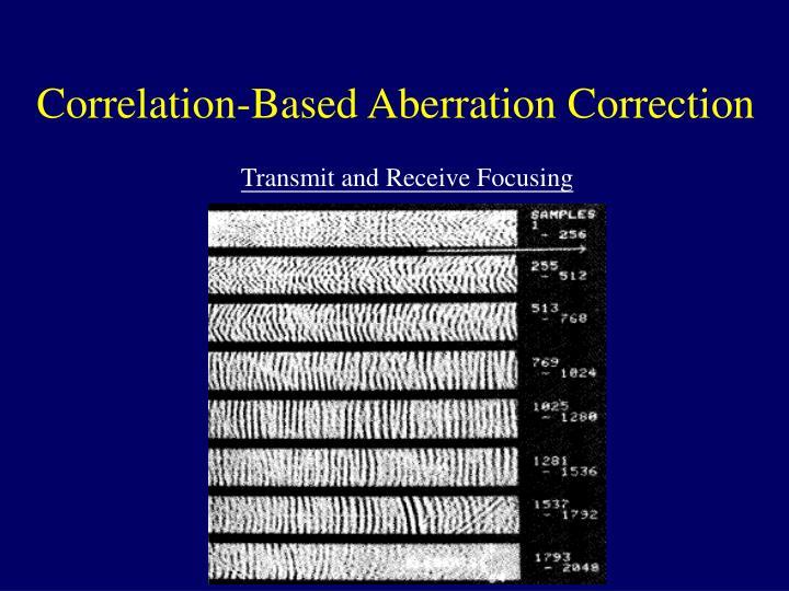 Correlation-Based Aberration Correction