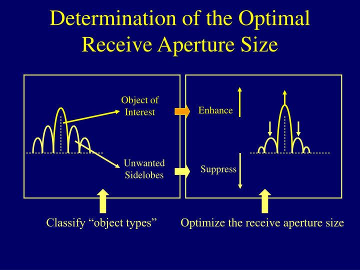 Determination of the Optimal Receive Aperture Size