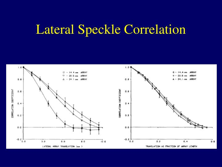 Lateral Speckle Correlation