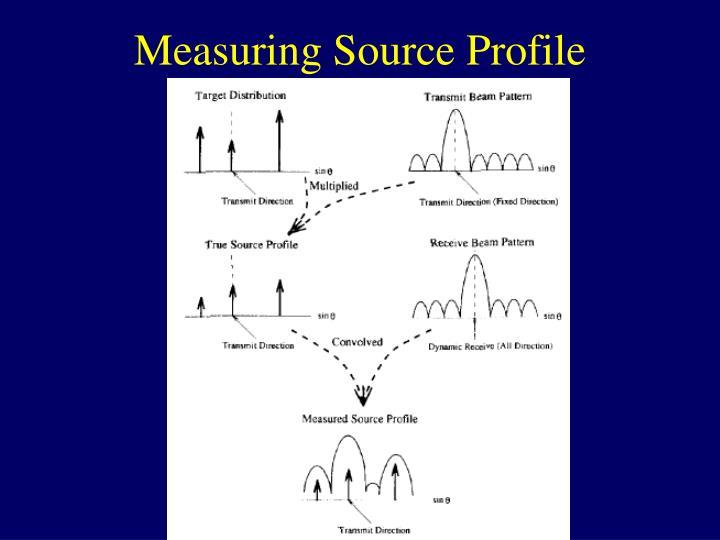Measuring Source Profile