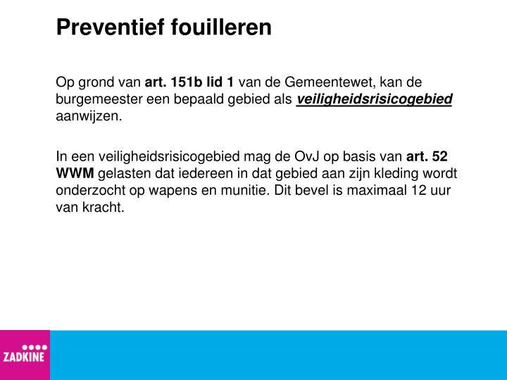 Preventief fouilleren