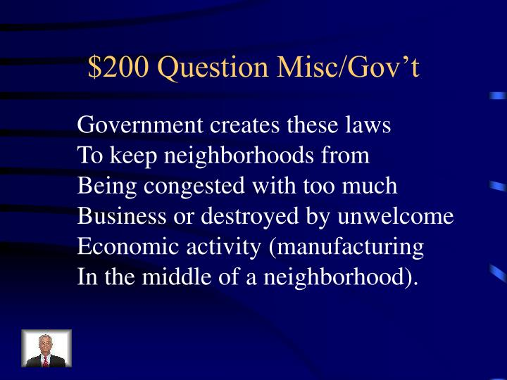 $200 Question Misc/Gov't
