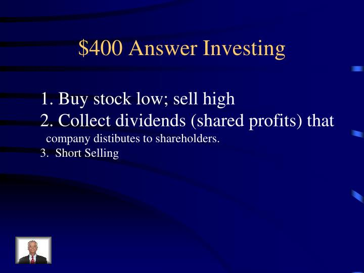 $400 Answer Investing