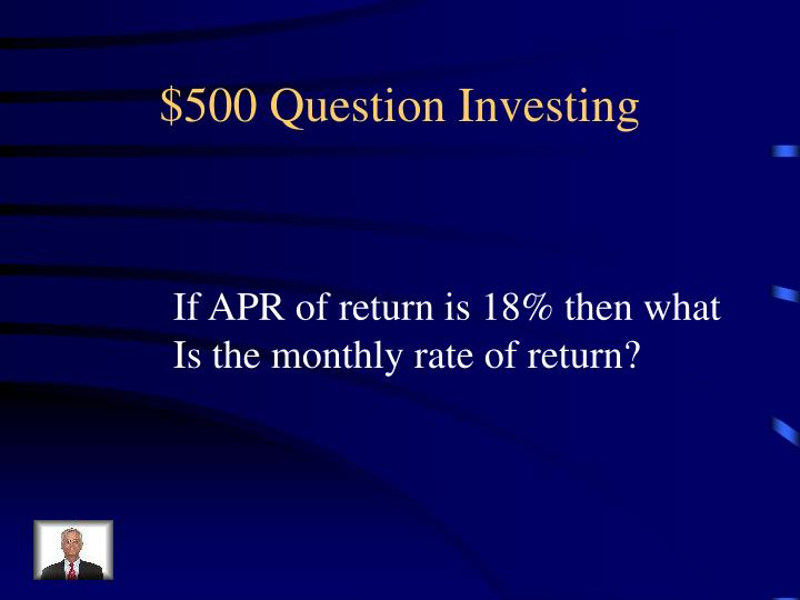 $500 Question Investing