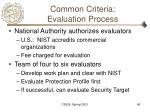 common criteria evaluation process