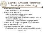 example enhanced hierarchical development methodology