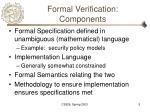 formal verification components