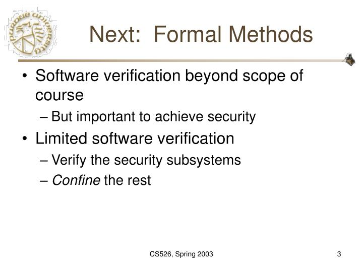 Next formal methods