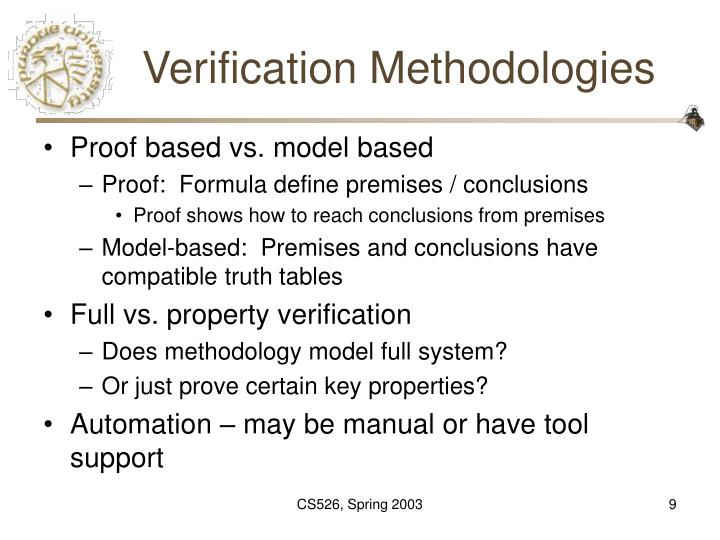 Verification Methodologies