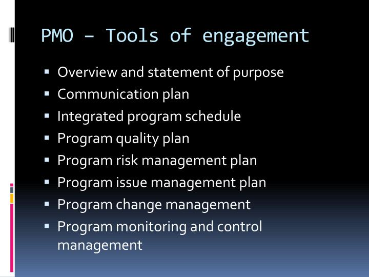 PMO – Tools of engagement
