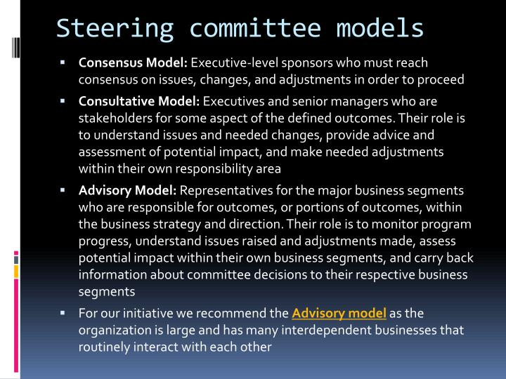 Steering committee models