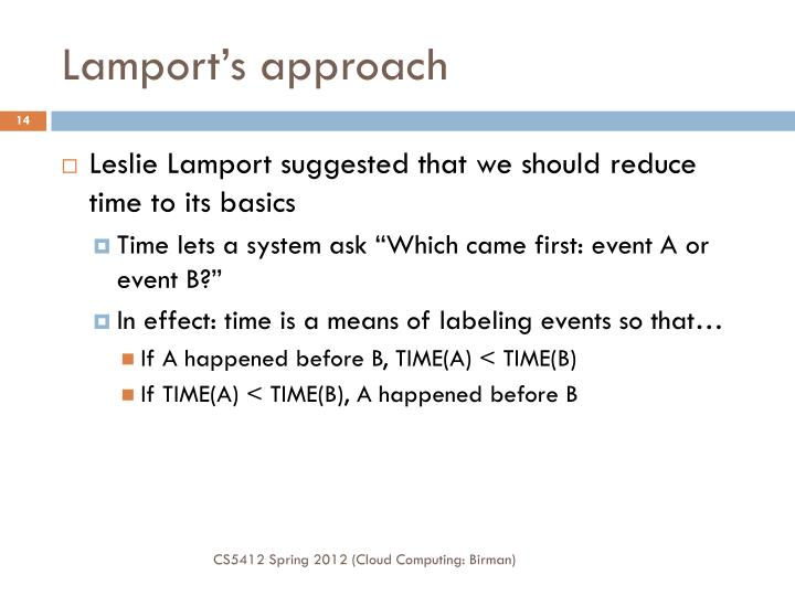 Lamport's approach