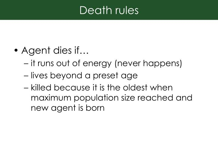 Death rules