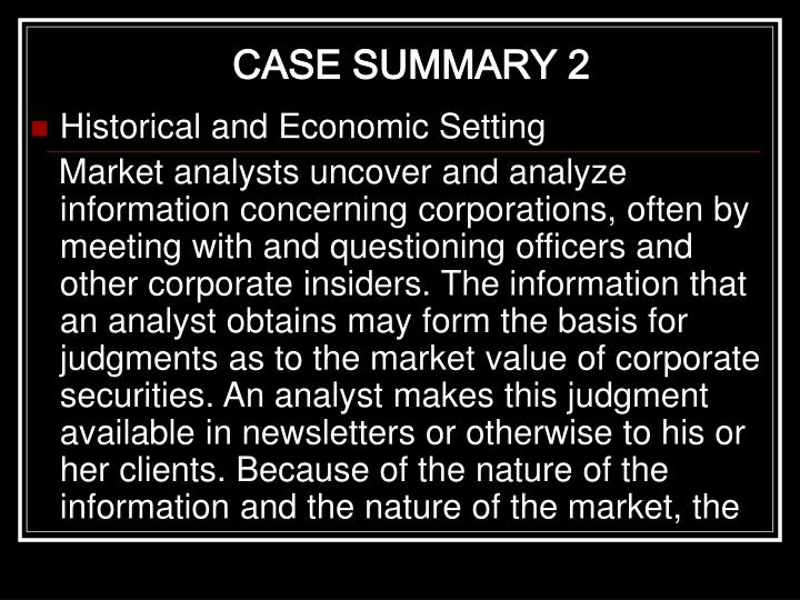 CASE SUMMARY 2