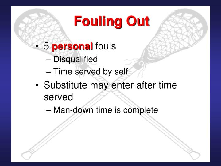 Fouling Out