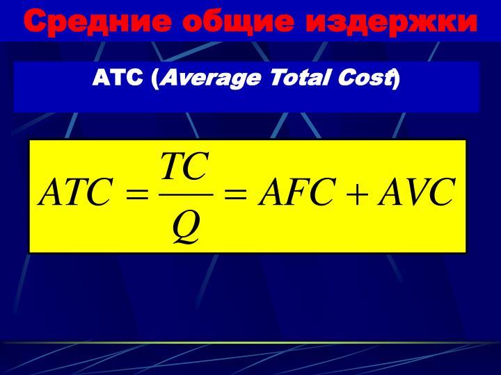 Средние общие издержки