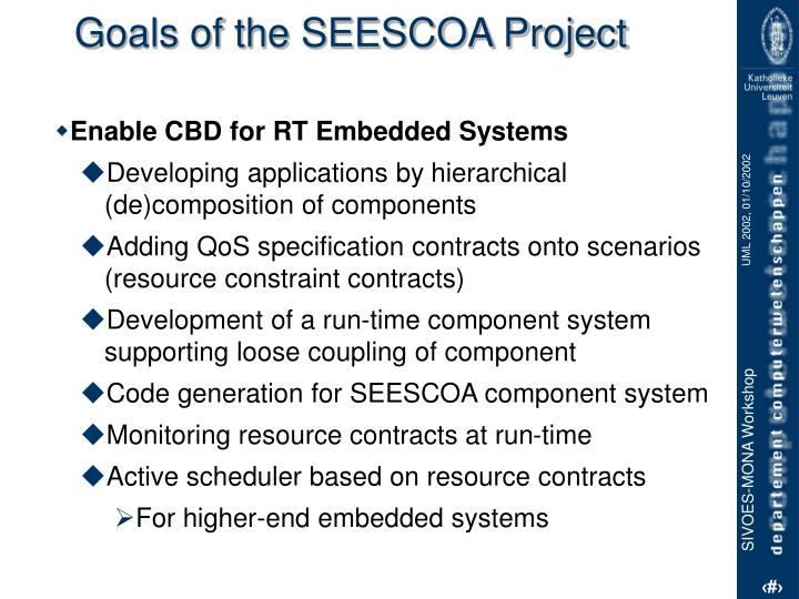 Goals of the SEESCOA Project