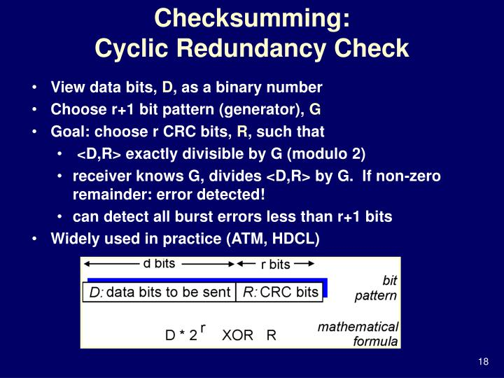Checksumming: