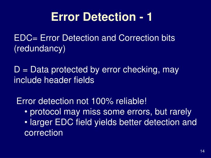 Error Detection - 1