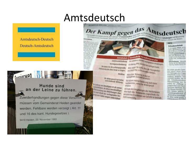 Amtsdeutsch