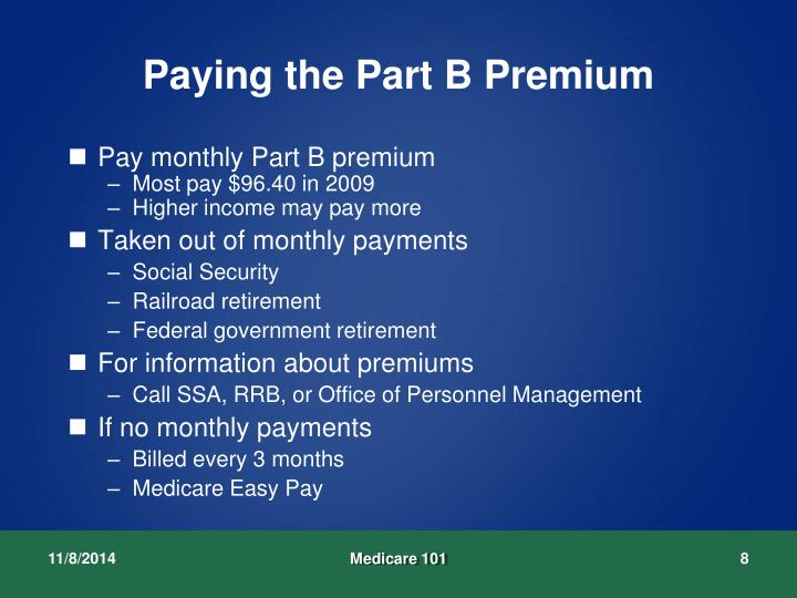 how to pay medicare premium