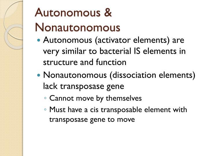 Autonomous &
