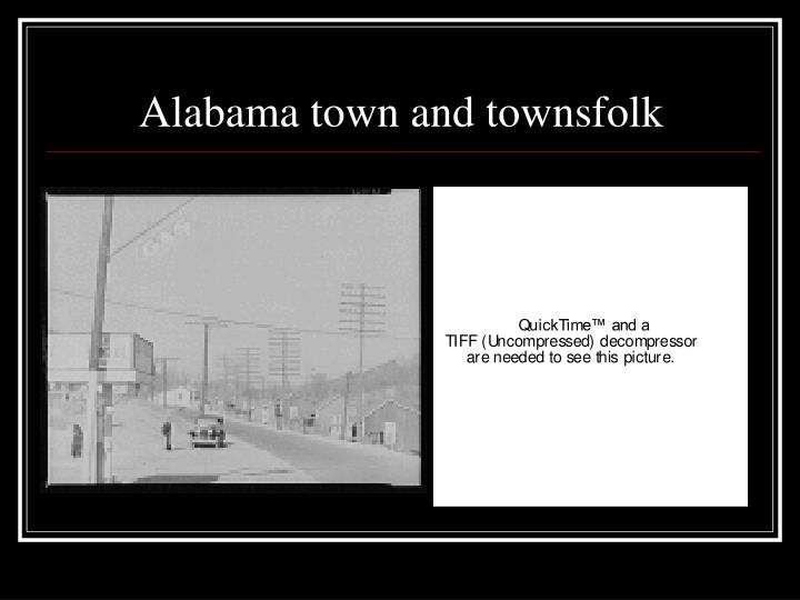Alabama town and townsfolk