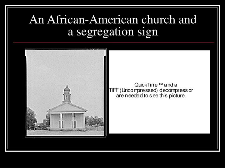 An African-American church and