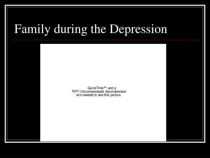 Family during the Depression