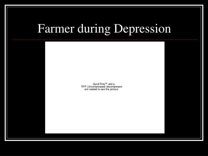Farmer during Depression