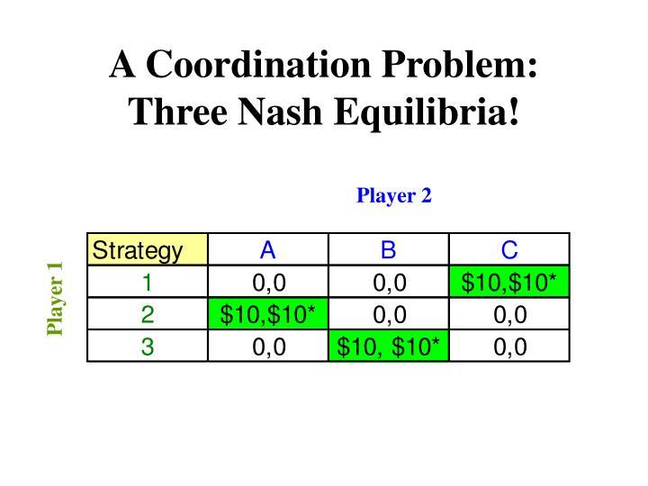 A Coordination Problem: